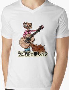 Squirrel Playing Guitar Mens V-Neck T-Shirt
