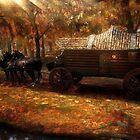 Forest in Autumn by Raelsatu