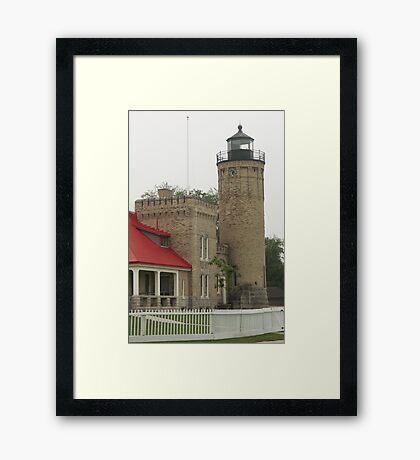 Lighthouse at Mackinaw City Framed Print