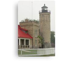 Lighthouse at Mackinaw City Metal Print