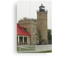 Lighthouse at Mackinaw City Canvas Print