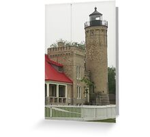 Lighthouse at Mackinaw City Greeting Card