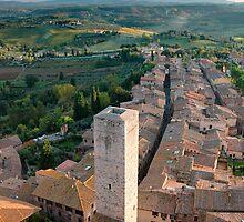 Tuscan light, San Gimignano  by Chris Allen