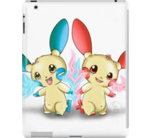 Pokemon: Plusle and Minun Attack Together! iPad Case/Skin