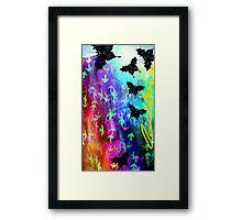 Black Butterfly - Style Rainbow Framed Print