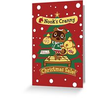 Tom Nook's Christmas Sale Greeting Card