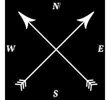 Compass Print, North, East, South, West Photographic Print