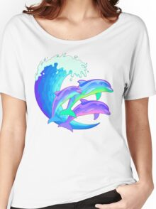 Psychedelic Dolphins Women's Relaxed Fit T-Shirt