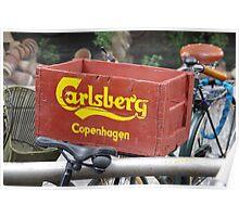 Denmark - Bicycle Basket Poster
