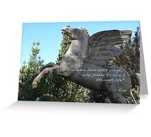 Rumi - Born with wings Greeting Card
