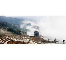 Rice Terraces in the Mist Photographic Print