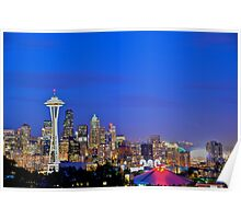 Seattle Skyline July 2011 Poster