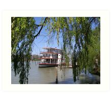 The 'Marion' Riverboat still operating at Mannum. Sth.Australia. Art Print