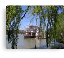 The 'Marion' Riverboat still operating at Mannum. Sth.Australia. Canvas Print