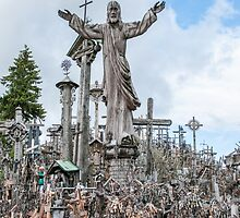 Jesus at Hill of Crosses by Ilze Lucero