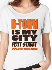 D-Town Is My City T-Shirt (Colour) Women's Relaxed Fit T-Shirt
