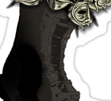 Roses made of $100 bills- War's always about money Sticker