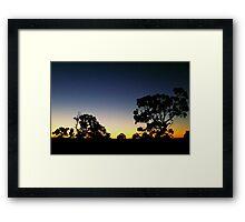 Western Victorian Sunset Framed Print
