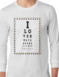 I LOVE ASL EYE CHART Long Sleeve T-Shirt