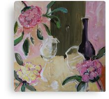 Celebrate with wine Canvas Print