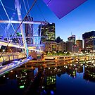 Brisbane River by Night by Peter Doré