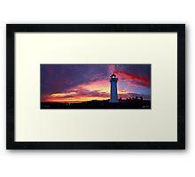 Sunset at Port Fairy Lighthouse Framed Print