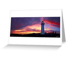 Sunset at Port Fairy Lighthouse Greeting Card