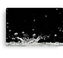 Drop of water splashing Canvas Print