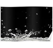 Drop of water splashing Poster
