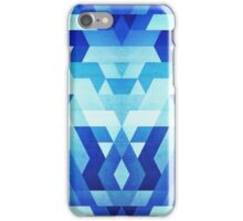 Abstract geometric triangle pattern (futuristic future symmetry) in ice blue iPhone Case/Skin