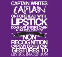 Captain Lipstick (White) by KitsuneDesigns