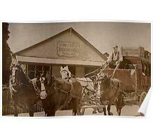 Cobb & Co. at Penola, South Australia Poster