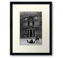 The Treasury, Petra Framed Print