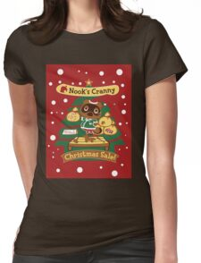 Tom Nook's Christmas Sale Womens Fitted T-Shirt
