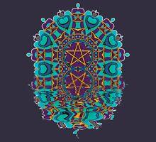 Aqua Purple Pentagram Love Reflection Hoodie