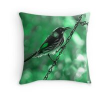 New Holland Honeyeater Throw Pillow