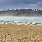 Bondi Beach on a windy day by barnabychambers