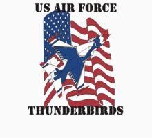 F-16 Thunderbird American Flag Kids Tee