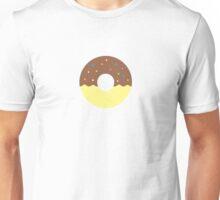 Chocolate Half Dip Donut Unisex T-Shirt