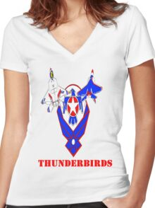 Air Force Thunderbirds F-22 Raptor Women's Fitted V-Neck T-Shirt