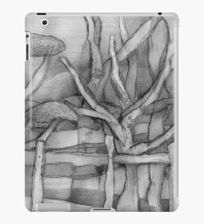 Trees Viewed Through a Fence on a Welsh Mountainside. iPad Case/Skin