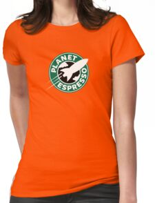 Planet Espresso Womens Fitted T-Shirt