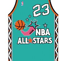 1996 NBA All-Star Throwback Jersey by ColbyCo