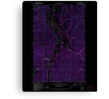 USGS Topo Map Washington State WA Acme 239726 1980 24000 Inverted Canvas Print