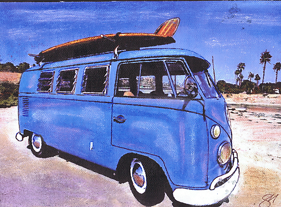 Bay Watch Bus by Sharon Poulton