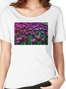 Pink and Purple Tulips Women's Relaxed Fit T-Shirt