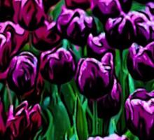 Pink and Purple Tulips Sticker