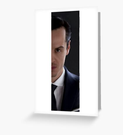 BBC Sherlock James Moriarty Painting Greeting Card