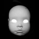 Creepy Doll Head iphone by Margaret Bryant