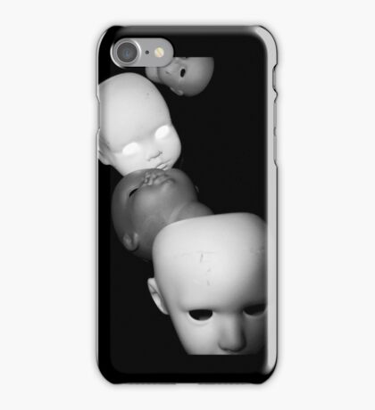 Creepy Multiple Dolls Heads iphone iPhone Case/Skin